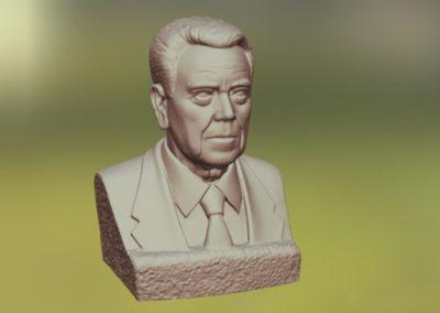 Escaneado 3d busto marmol